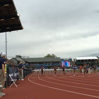 Photo taken at Hayward Field by Mary P. on 7/8/2016