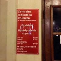 Photo taken at Centralna Biblioteka Rolnicza by Daniel M. on 12/28/2013