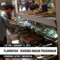 Photo taken at Flamboyan - Warung Makan Prasmanan by DEDI S. on 1/11/2013