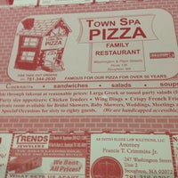 Photo taken at Town Spa Pizza by Marc d. on 7/7/2013