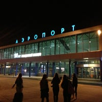 Photo taken at Omsk Central International Airport (OMS) by Anatoliy B. on 4/4/2013