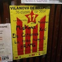 Photo taken at Vilanova de Bellpuig by Jordi M. on 4/20/2014