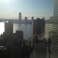 Photo taken at New York Marriott Downtown by Jared J. on 4/28/2013