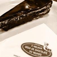 Photo taken at O Melhor Bolo de Chocolate do Mundo by Regina K. on 3/10/2013