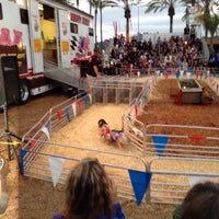 Photo taken at Swifty Swine Racing Pigs by Frankie A. on 6/14/2014