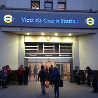 Photo taken at Victoria Coach Station by Shoko on 11/29/2012