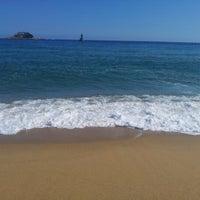 Photo taken at Sokcho Beach by Hee Jin W. on 10/2/2012