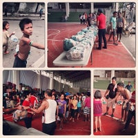 Photo taken at Tinago Sports Complex by paul.eeyan on 12/25/2013