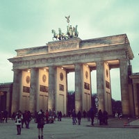 Photo taken at Brandenburg Gate by Cathy V. on 3/30/2013