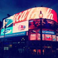 Photo taken at Piccadilly Circus by Jan T. on 4/21/2013