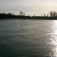 Photo taken at Rheinufer gegenüber Km 747 by An D. on 3/19/2014