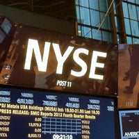 Photo taken at New York Stock Exchange by Alicia on 2/6/2013