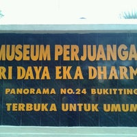 Photo taken at MUSEUM PERJUANGAN TRI DAYA EKA DHARMA by Iqbal H. on 7/6/2013