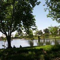 Photo taken at Lake Balboa Park by Corey P. on 5/28/2013