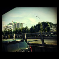 Photo taken at Sala Daeng Intersection by Pk _. on 11/1/2012