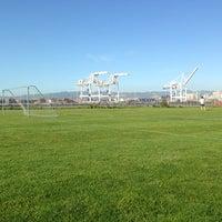 Photo taken at Alameda Point Fields by Hardwin C. on 4/12/2013