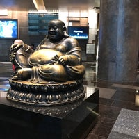 Photo taken at Big Buddah Statue at ARIA by Laurie H. on 10/10/2017