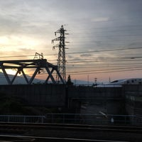 Photo taken at 東海道本線 酒匂川橋梁 by 山田 葵. on 8/25/2017