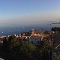 Photo taken at Mediterranee Hotel Taormina by Andrea B. on 8/22/2016