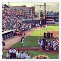 Photo taken at Principal Park by Lizzy S. on 6/21/2013