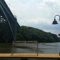 Photo taken at Spuyten Duyvil by Adrienne R. on 7/26/2015
