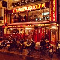 Photo taken at L'Entrecôte de Paris by Fernando C. on 1/10/2013