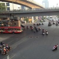 Photo taken at Sala Daeng Intersection by Teh K. on 2/5/2013