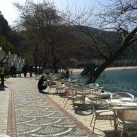 Photo taken at İnkum Terrace by Gülin D. on 3/31/2013
