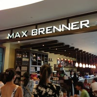 Photo taken at Max Brenner Chocolate Bar by Big R. on 1/8/2013