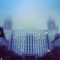 Photo taken at Lomonosov Moscow State University (MSU) by Alexandra . on 5/24/2013