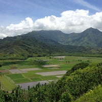Photo taken at Hanalei Valley Lookout by Miles Y. on 5/24/2013