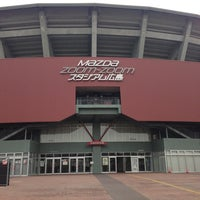 Photo taken at Mazda Zoom-Zoom Stadium Hiroshima by Akifumi N. on 1/21/2013