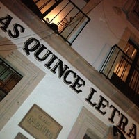 Photo taken at Las Quince Letras by ruben v. on 12/16/2012