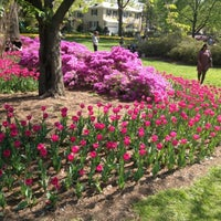 Photo taken at Sherwood Gardens by Adrian S. on 4/27/2013