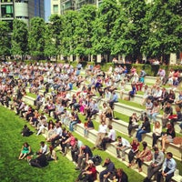 Photo taken at Sheldon Square by Alex K. on 6/6/2013