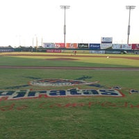Photo taken at Estadio Nelson Barrera Romellón by Raul M. on 4/7/2013