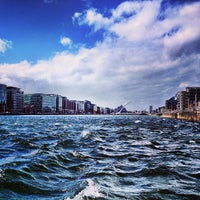 Photo taken at The River Liffey by Jules K. on 4/14/2013