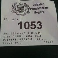 Photo taken at jabatan pendaftaran negara bandar jengka by kim n. on 6/3/2013