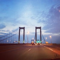 Photo taken at Delaware Memorial Bridge by Sameer's E. on 9/1/2013