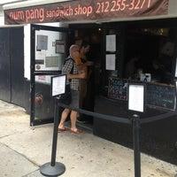 Photo taken at Num Pang Sandwich Shop by Sean H. on 6/8/2013