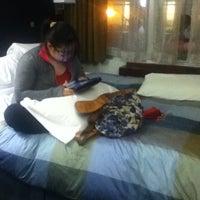 Photo taken at Club Quarters Hotel, opp Rockefeller Center by Jara M. on 12/22/2012