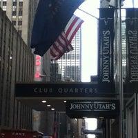 Photo taken at Club Quarters Hotel, opp Rockefeller Center by Jara M. on 12/24/2012