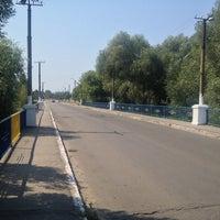 Photo taken at Міст через р. Вовчу by Александр К. on 8/16/2014