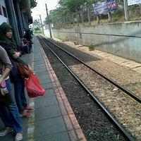 Photo taken at Stasiun Tanah Abang by LINA O. on 9/30/2012