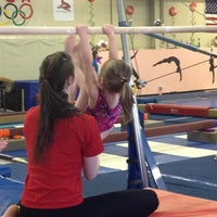 Photo taken at Jean's Gymnastics by Lisa V. on 4/6/2013