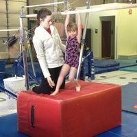 Photo taken at Jean's Gymnastics by Lisa V. on 3/23/2013