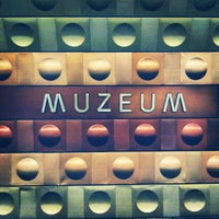 Photo taken at Metro =A= =C= Muzeum by S G. on 1/6/2013