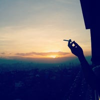 Photo taken at 12th Floor - Smoking Area by Zie A. on 2/4/2013
