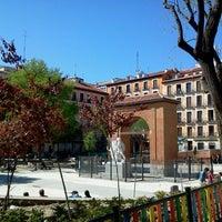 Photo taken at Plaza del Dos de Mayo by Santi J. on 4/21/2013