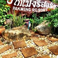 Photo taken at Pakmeng Resort by Nathan Yok N. on 6/2/2014